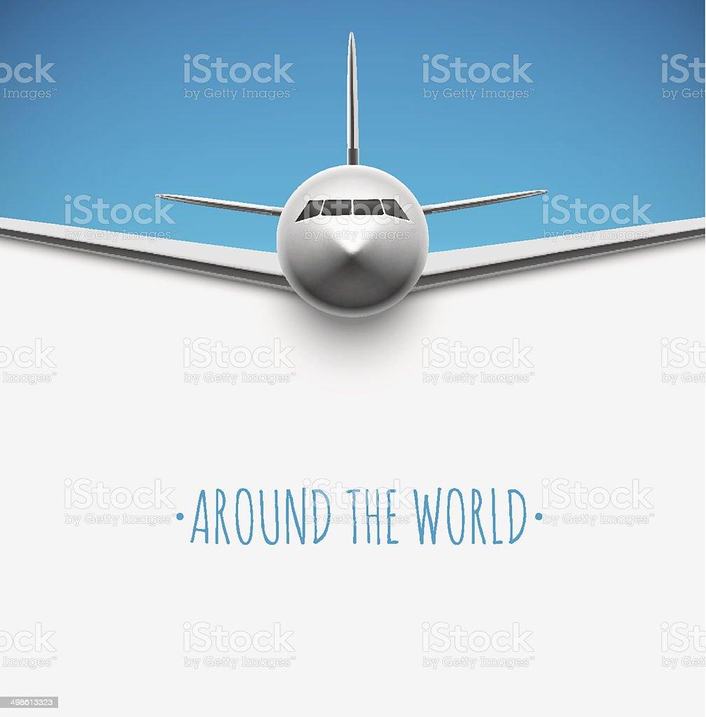 Around the world vector art illustration