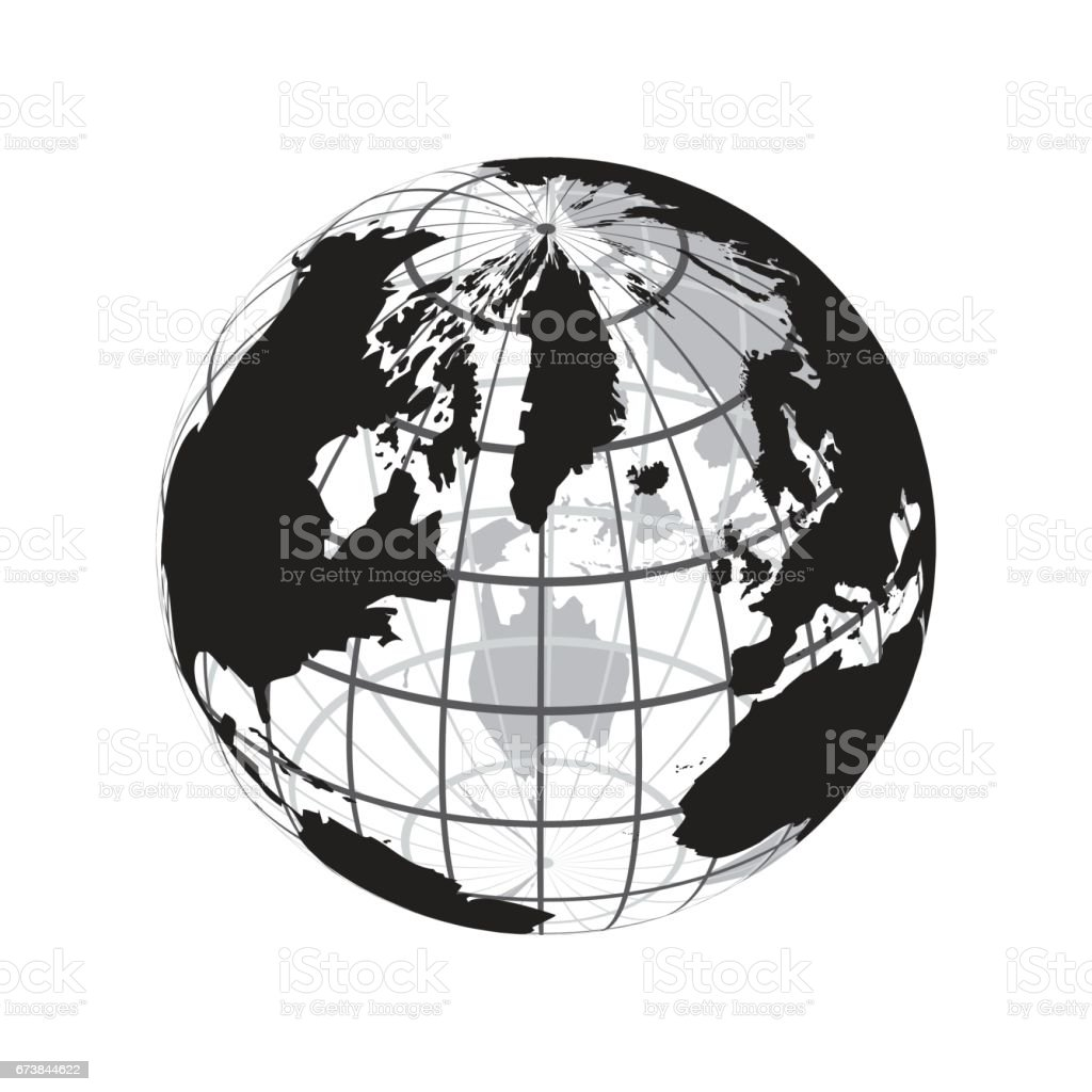 Around the world stock vector art more images of africa around the world outline of world map with latitude and longitude royalty free gumiabroncs Gallery