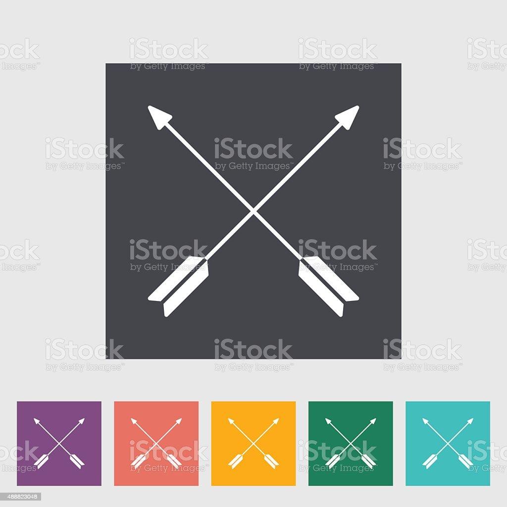 Arows icon vector art illustration