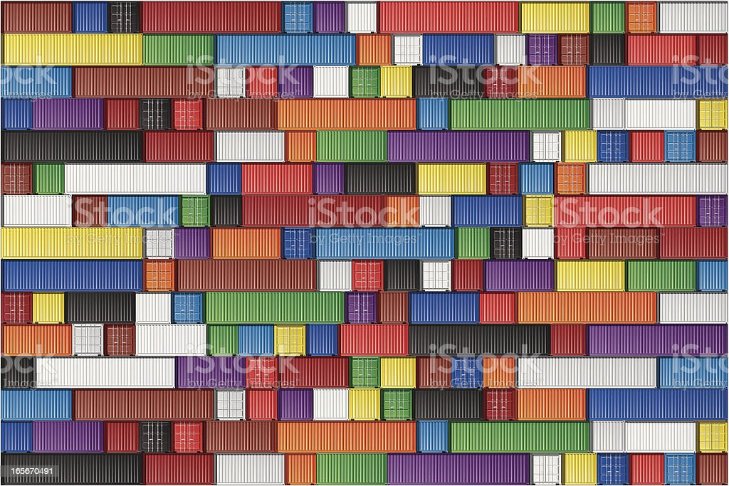 Arrangement of blocks in multiple colors vector art illustration