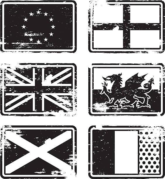 Best Black And White British Flag Illustrations, Royalty ...