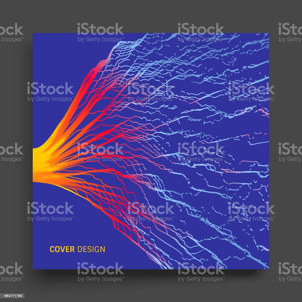 Array with dynamic particles. Composition with motion effect. Abstract vector illustration. royalty-free array with dynamic particles composition with motion effect abstract vector illustration stock vector art & more images of abstract
