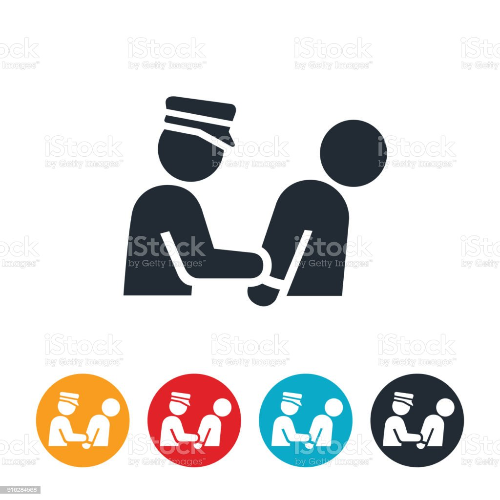 Arrest Icon vector art illustration