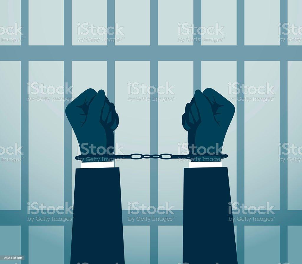 Arrest vector art illustration