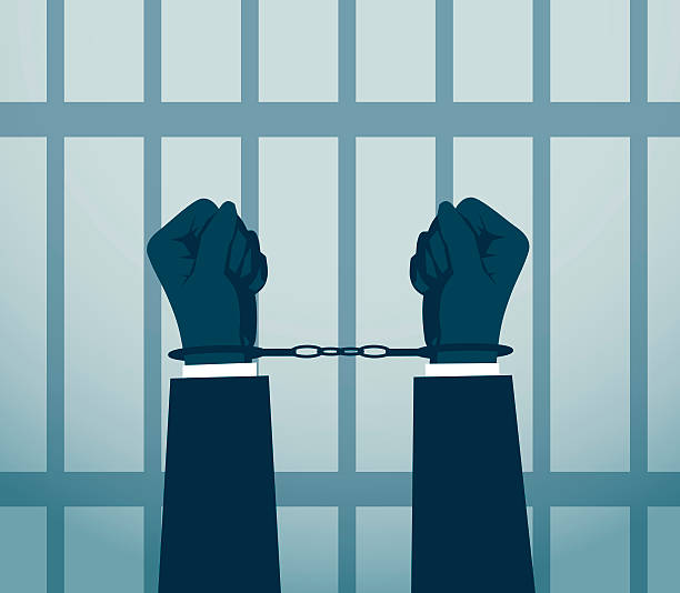 illustrations, cliparts, dessins animés et icônes de arrestation - prison
