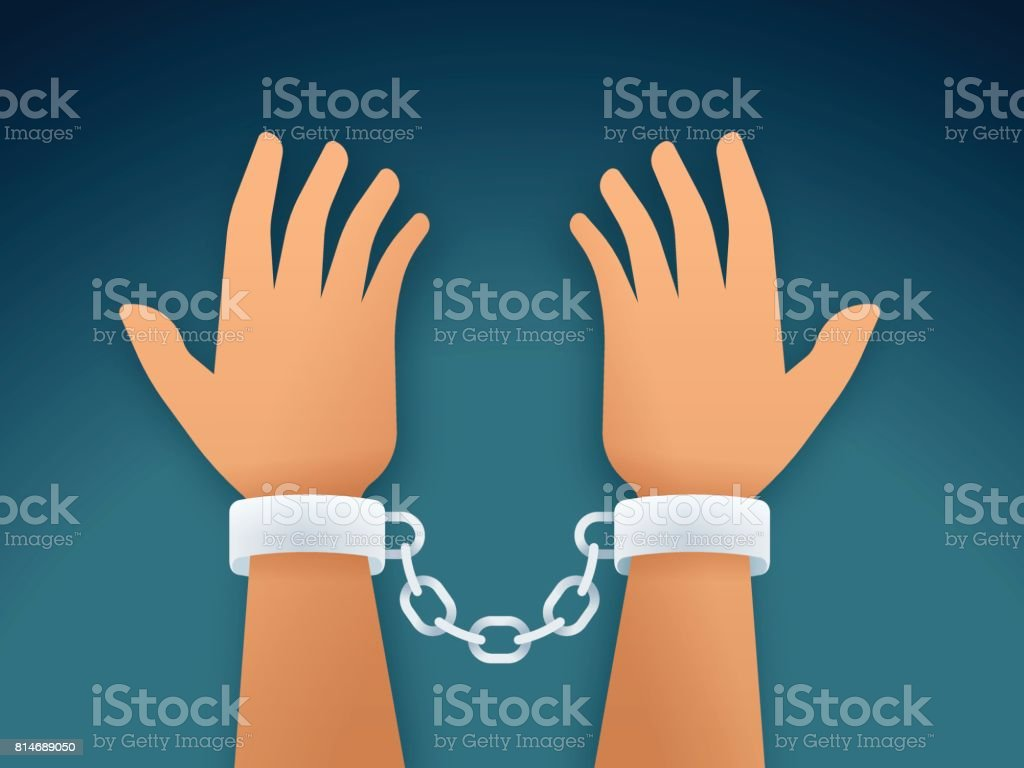 Arrested Person vector art illustration