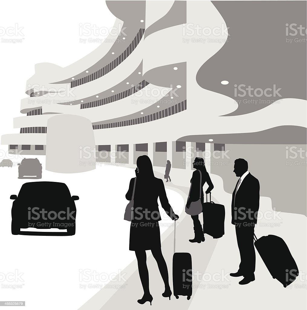 Arrivals Vector Silhouette royalty-free stock vector art