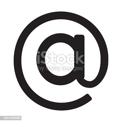 istock Arroba symbol, web and computer icon 1304290060