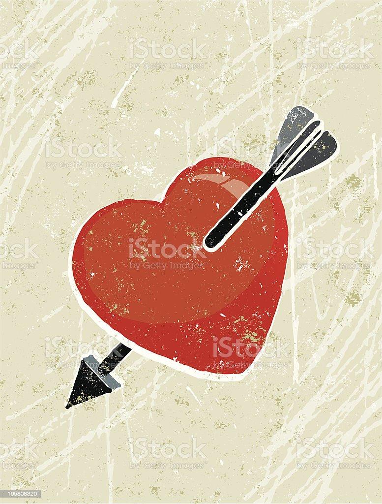 Arrow and Heart royalty-free stock vector art