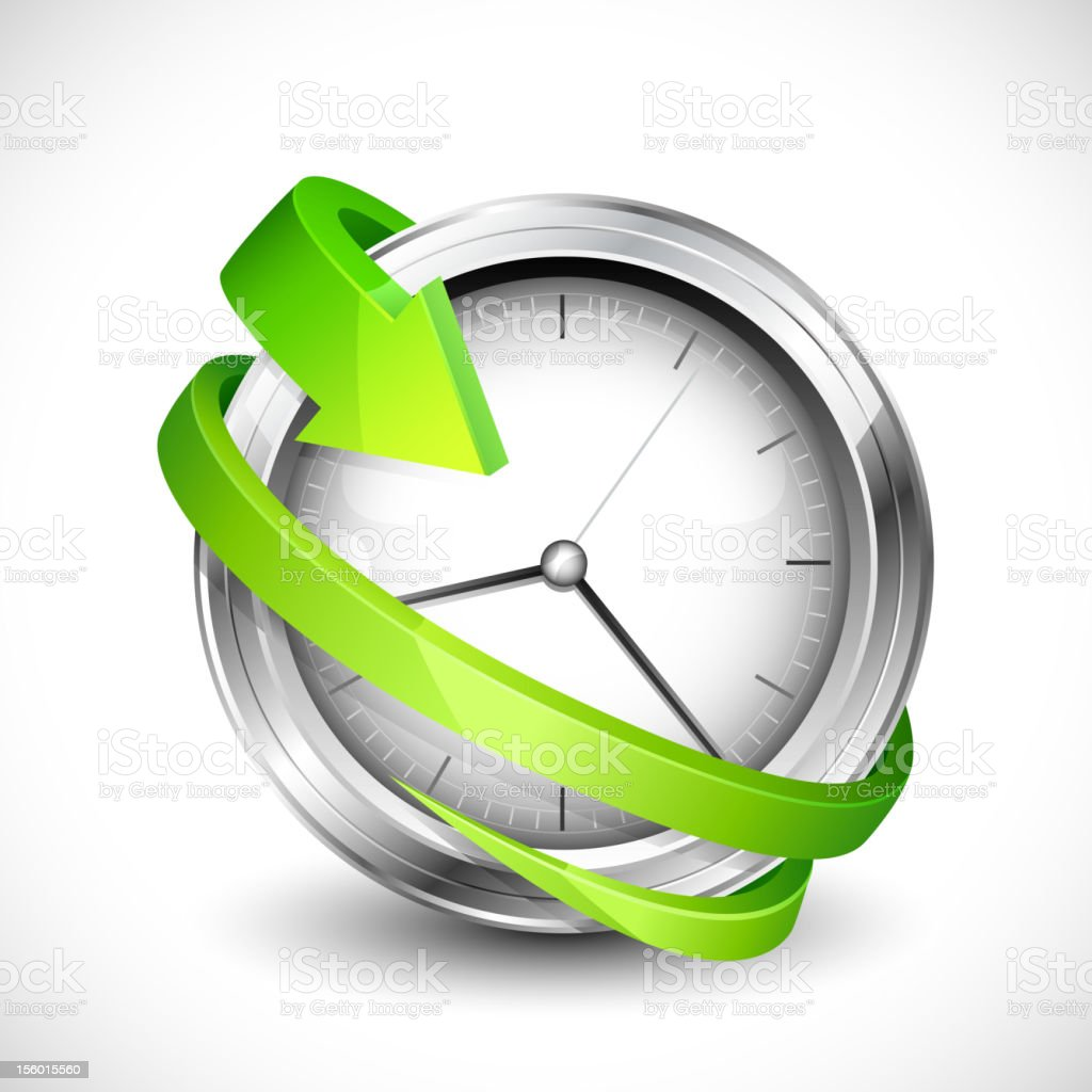 Arrow around Clock royalty-free stock vector art