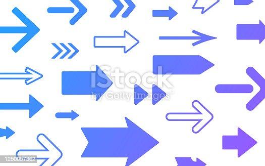 Arrow direction forward backward lines.