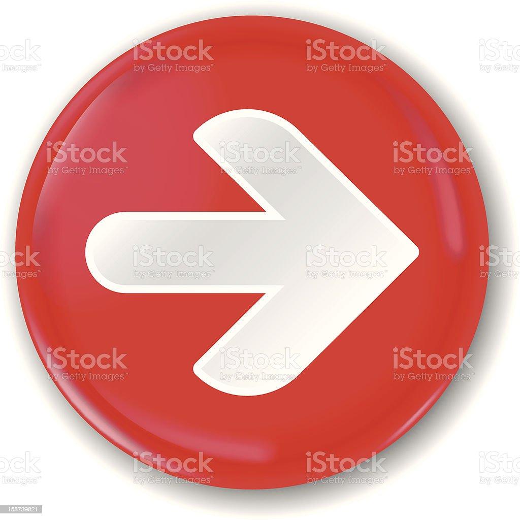 arrow badge (1 credit) royalty-free stock vector art