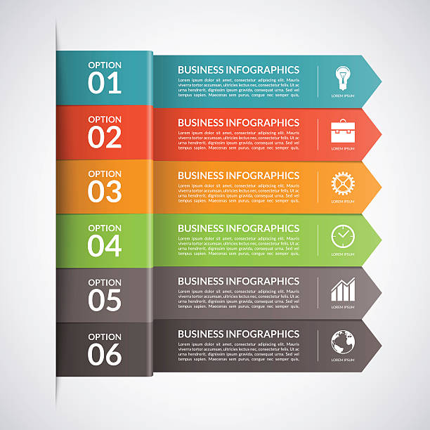 Arrow business infographics template. Vector vector art illustration