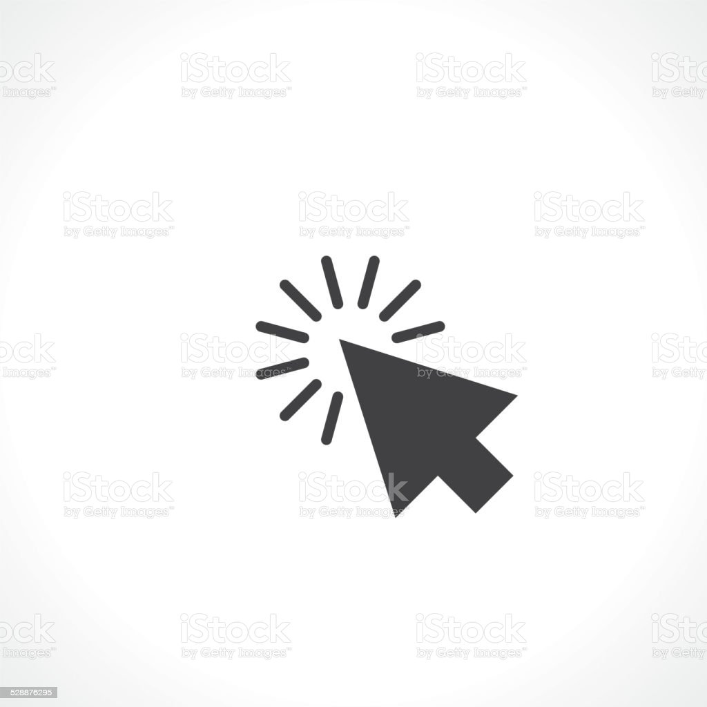 arrow click vector art illustration