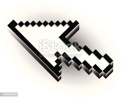 Arrow computer cursor vector.