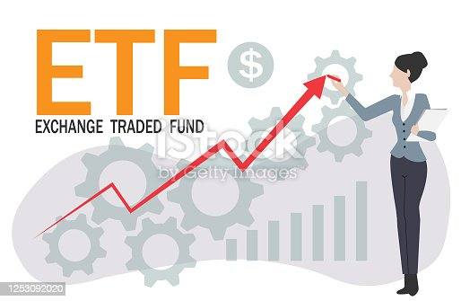 ETF arrow concept.