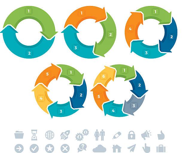 ilustrações, clipart, desenhos animados e ícones de seta conexão infográfico símbolos - segundo grau