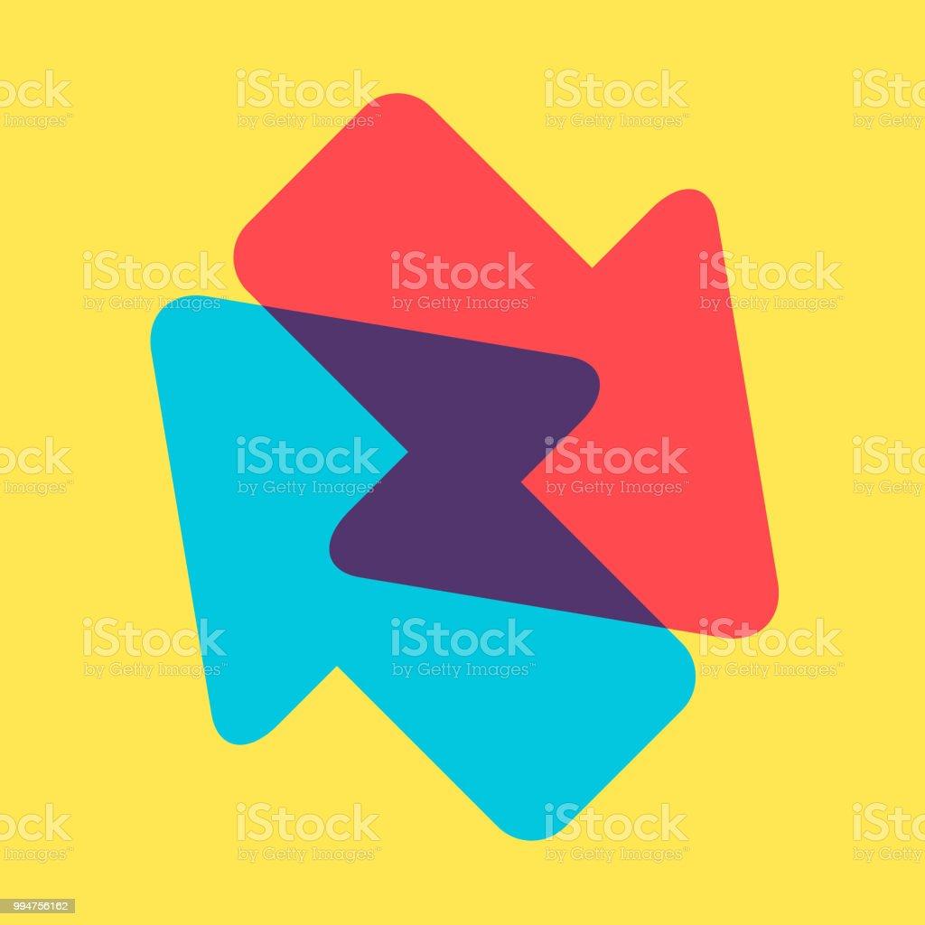 Arrow direction icon vector art illustration