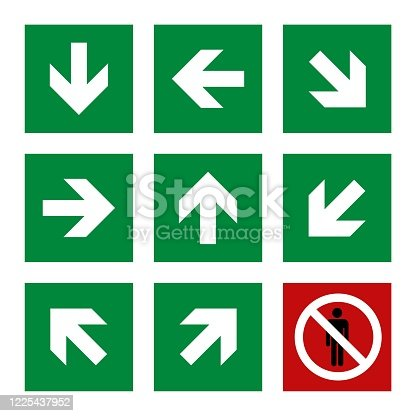 Arrow Direction in Square Signage Illustration Design. Vector EPS 10.