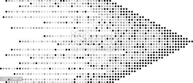 pixelated dotted arrow design element