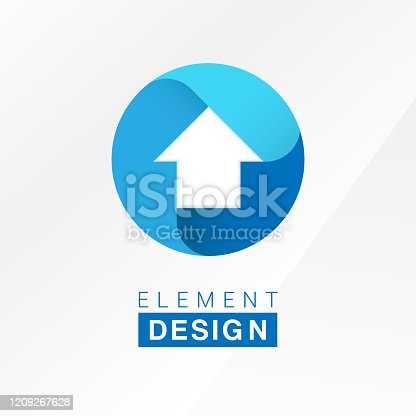 Vector arrow symbol design template for business.