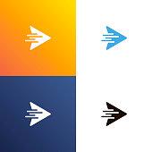 Arrow fast design logo. Arrows icon isolated. Vector illustration