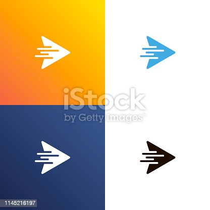 Arrow fast design logo. Arrows icon isolated. Vector illustration