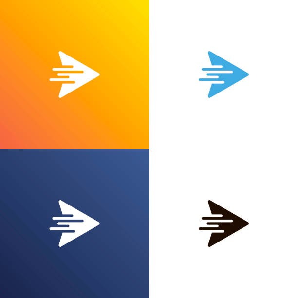 Arrow fast design logo. Arrows icon isolated. Vector Arrow fast design logo. Arrows icon isolated. Vector illustration logo stock illustrations