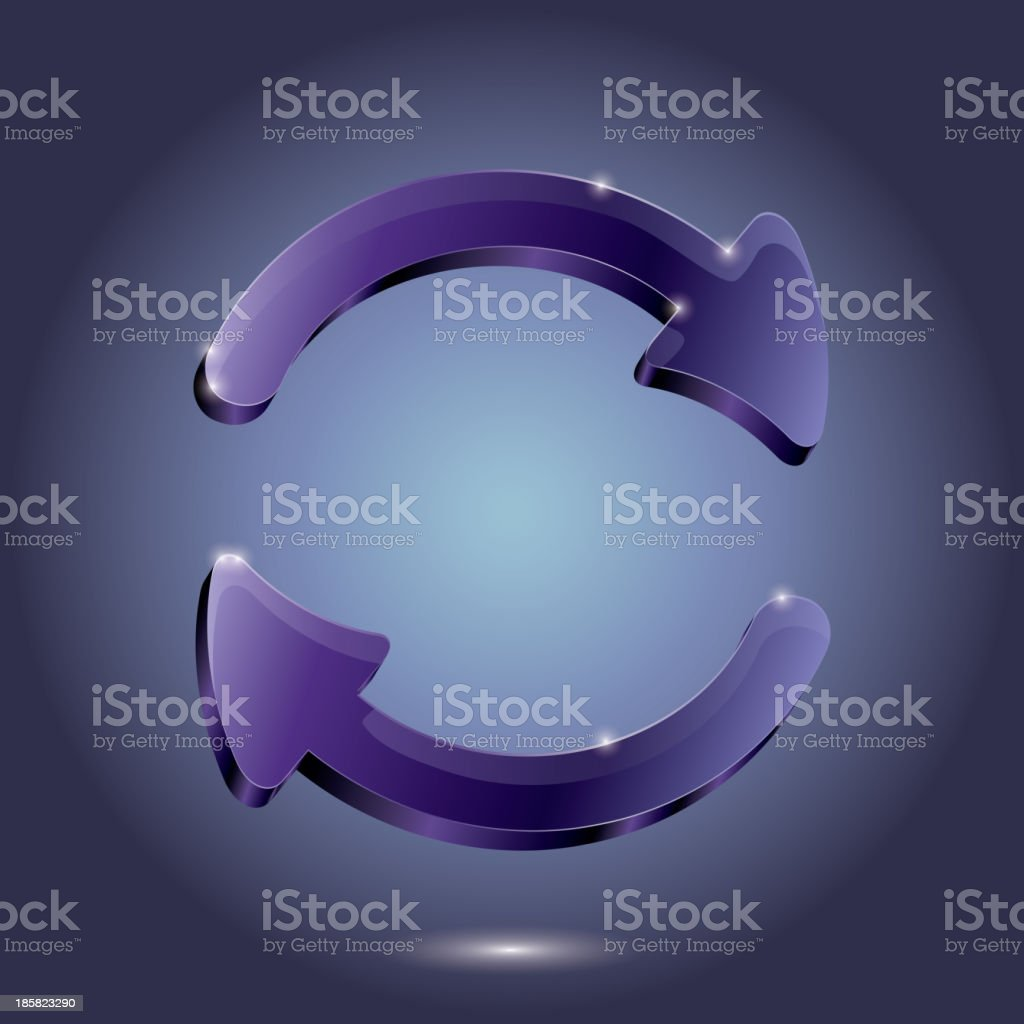 Arrow Glass pictogram refresh reload rotation loop sign. vector royalty-free arrow glass pictogram refresh reload rotation loop sign vector stock vector art & more images of abstract