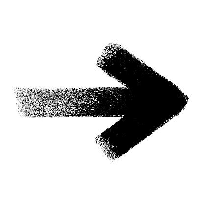 Arrow, grunge design element