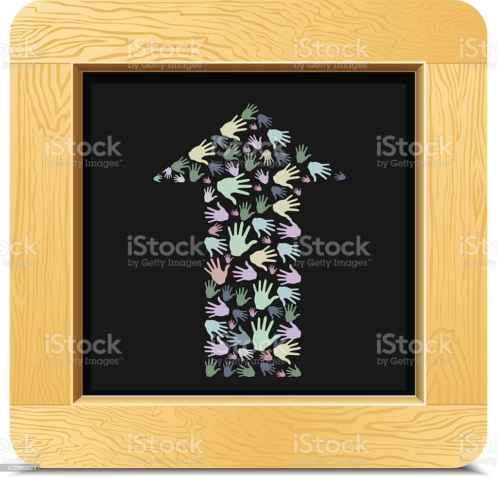 Arrow hand royalty-free stock vector art