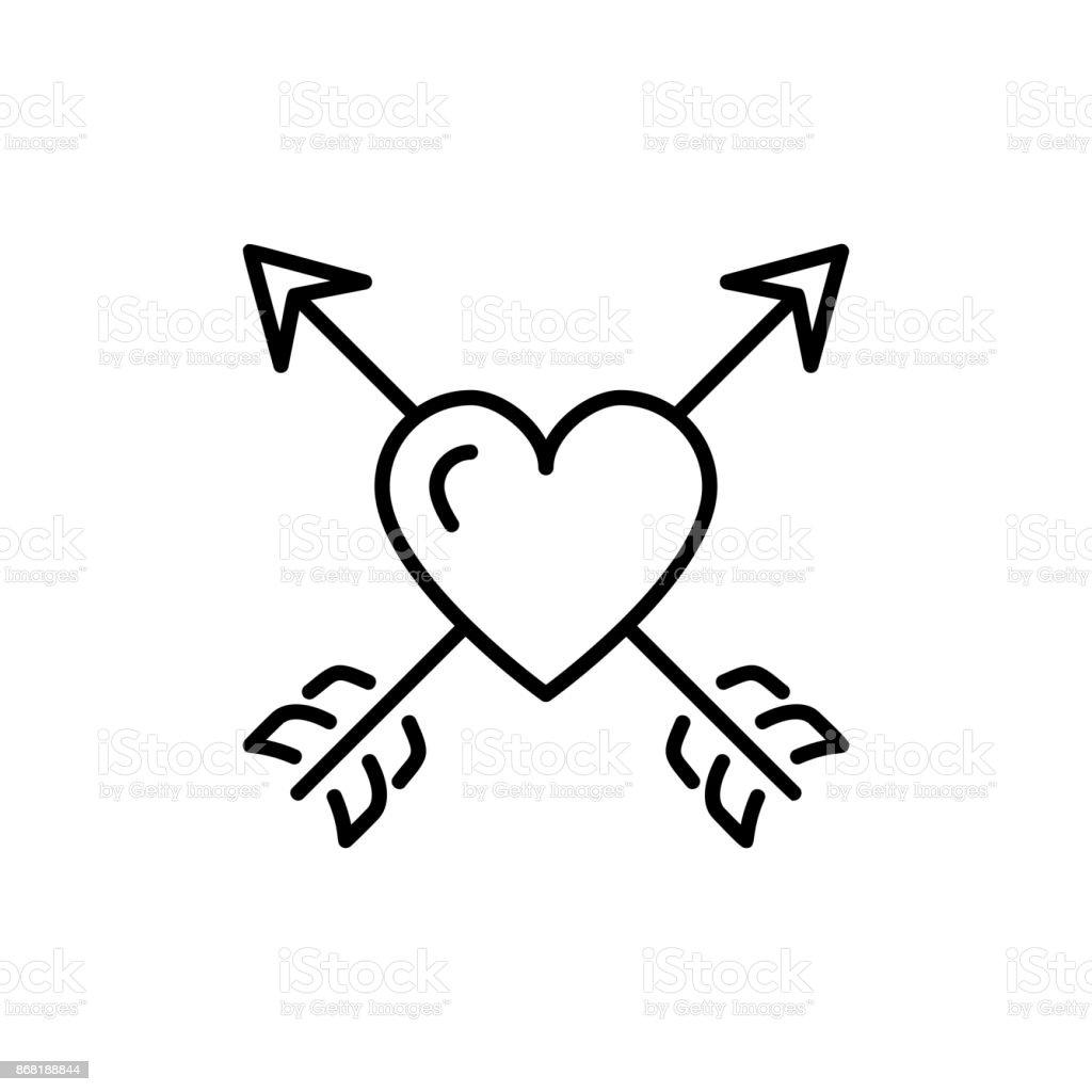 ic ne de fl che de coeur symbole de la saintvalentin signe de lamour conception de fine art. Black Bedroom Furniture Sets. Home Design Ideas