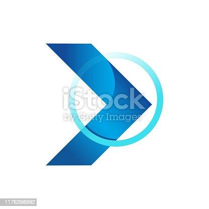 Abstract design arrow icon 3d