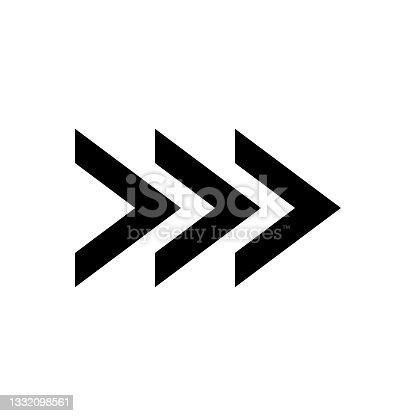 istock Arrow icon. Arrow symbol. Arrows icon on a white background. 1332098561