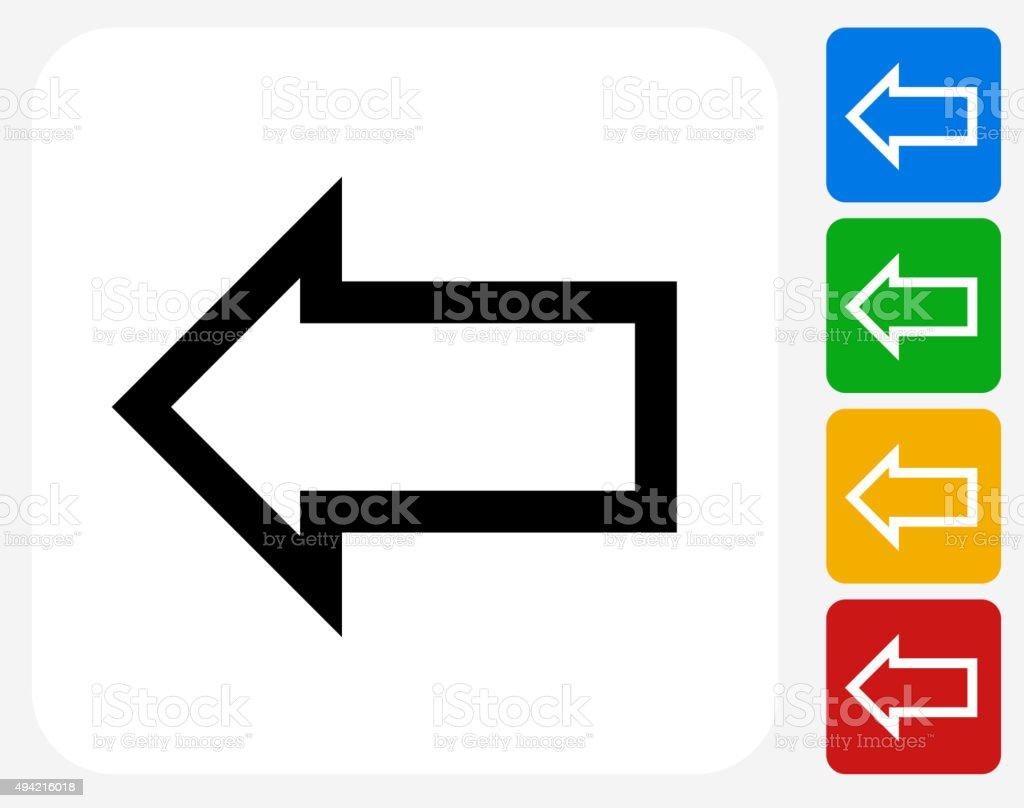 Arrow Icon Flat Graphic Design vector art illustration