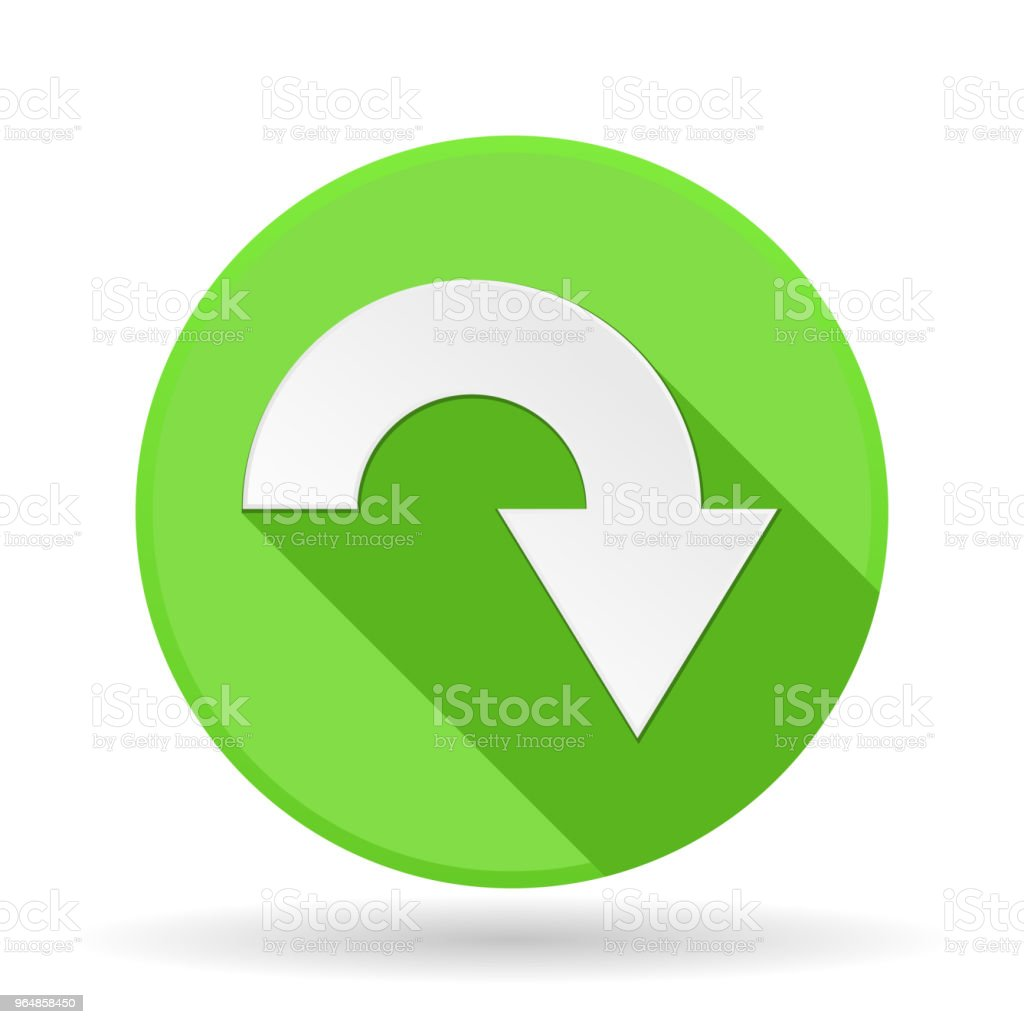 Arrow icon. Green round sign with shadow. Down arrow royalty-free arrow icon green round sign with shadow down arrow stock vector art & more images of advice