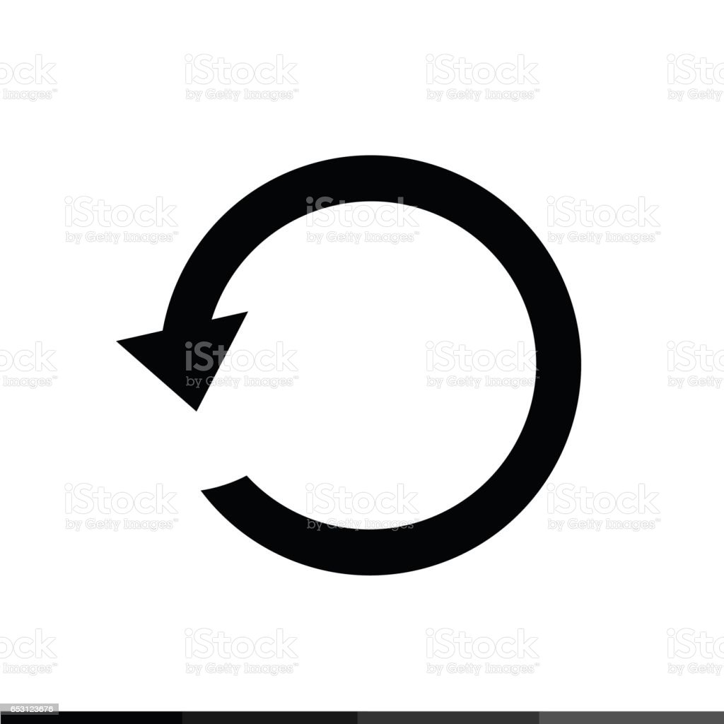 arrow icon illustration design stock vector art more images of rh istockphoto com circle arrow chart vector semi circle arrow vector