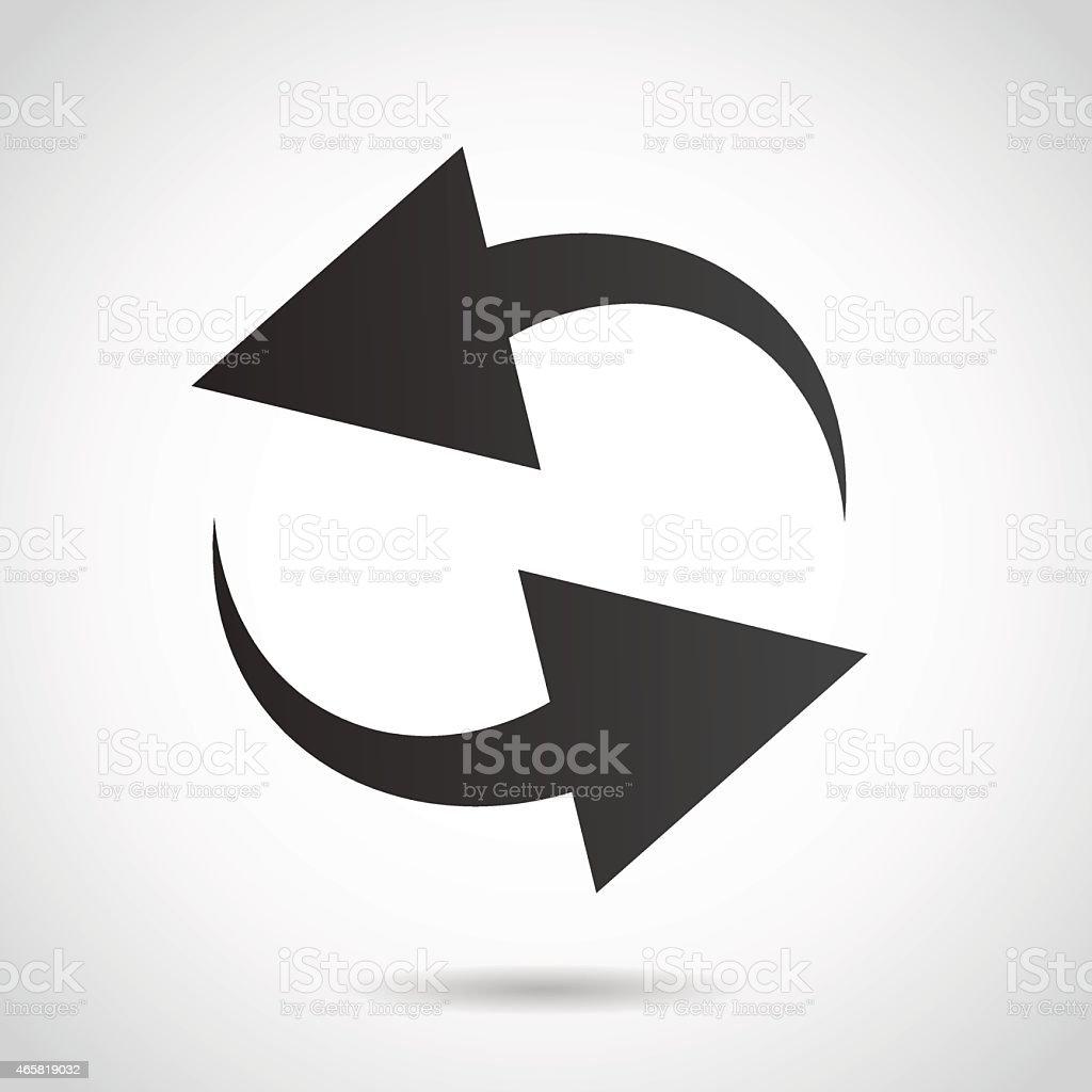 Arrow icon isolated on white background. vector art illustration