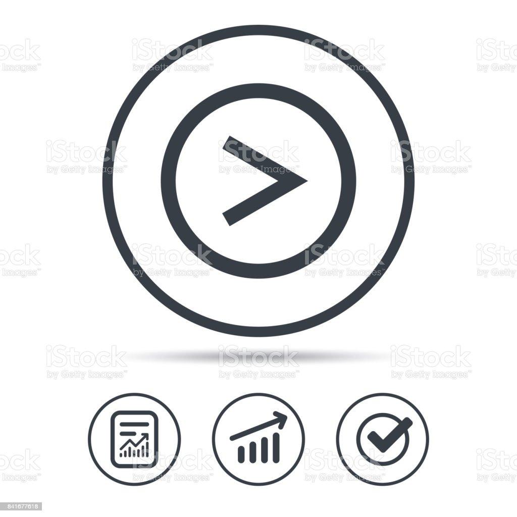 Arrow icon. Next navigation sign. vector art illustration