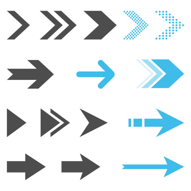 Arrow Icon Set Flat Design on White Background. Scalable to any size. Vector Illustration EPS 10 File. arrows stock illustrations