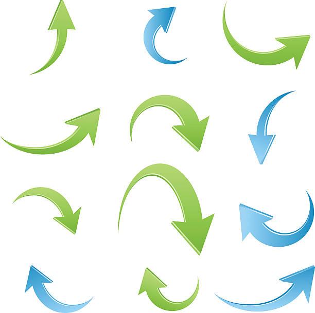 Arrow icon set vector art illustration