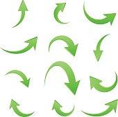 Arrow icon set ,vector illustration