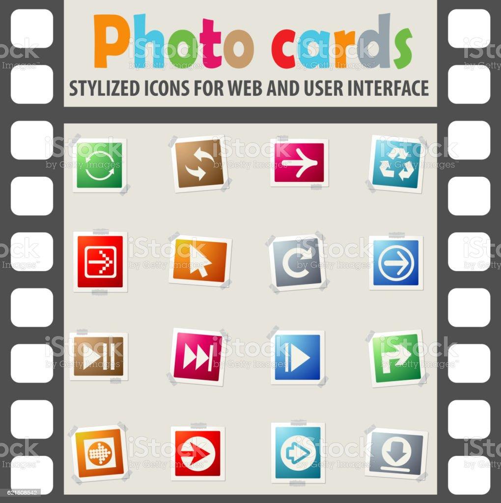 Flèche icon set flèche icon set – cliparts vectoriels et plus d'images de aller de l'avant libre de droits