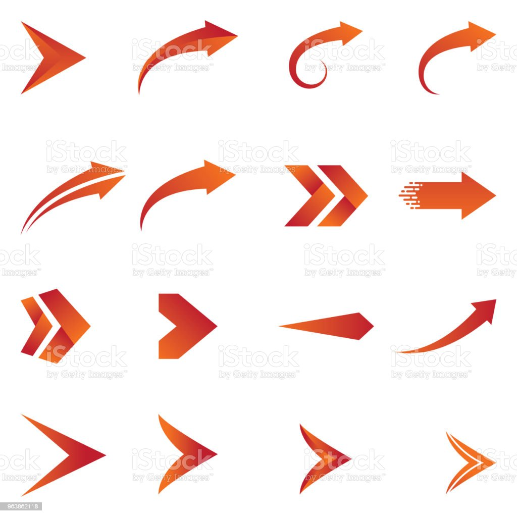 Arrow icon vector design - Royalty-free Abstract stock vector