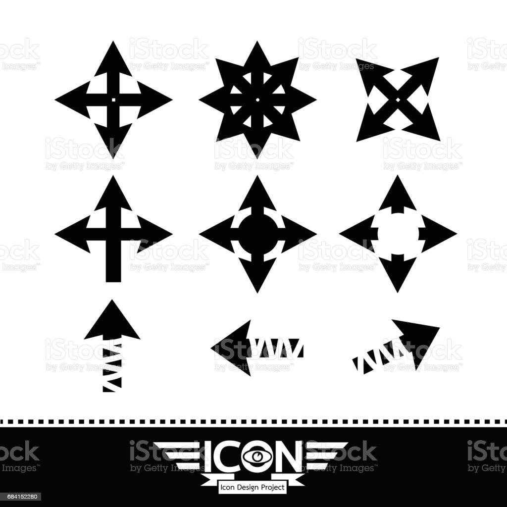Pictogram pijl royalty free pictogram pijl stockvectorkunst en meer beelden van bord - bericht