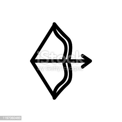 istock Arrow icon vector. Isolated contour symbol illustration 1197060483