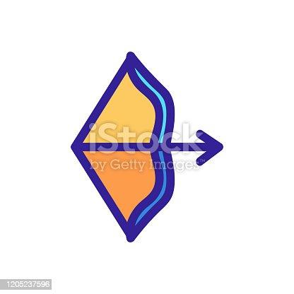 istock Arrow icon vector. Isolated contour symbol illustration 1205237596