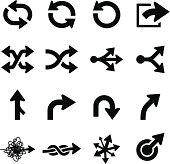 Arrow Icons - Black Series