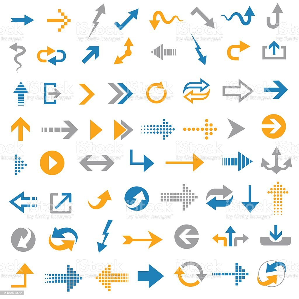 Arrow icons- Illustration vector art illustration