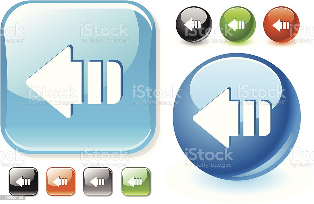 Arrow icons in different shapes & colors royalty-free stock vector art